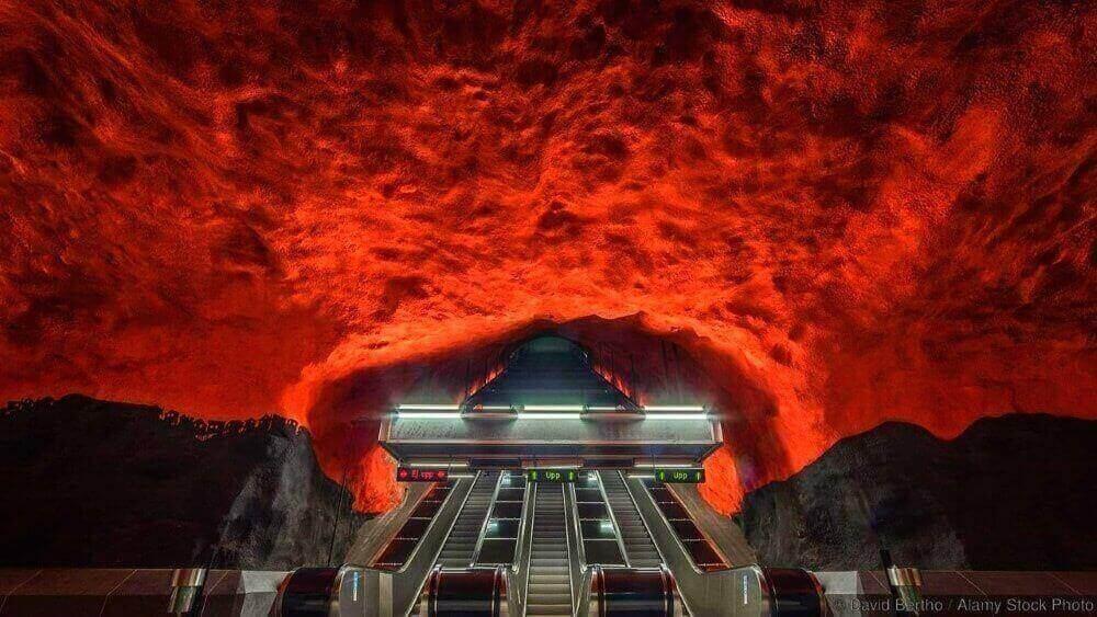 Solna Centrum estación de metro, Estocolmo