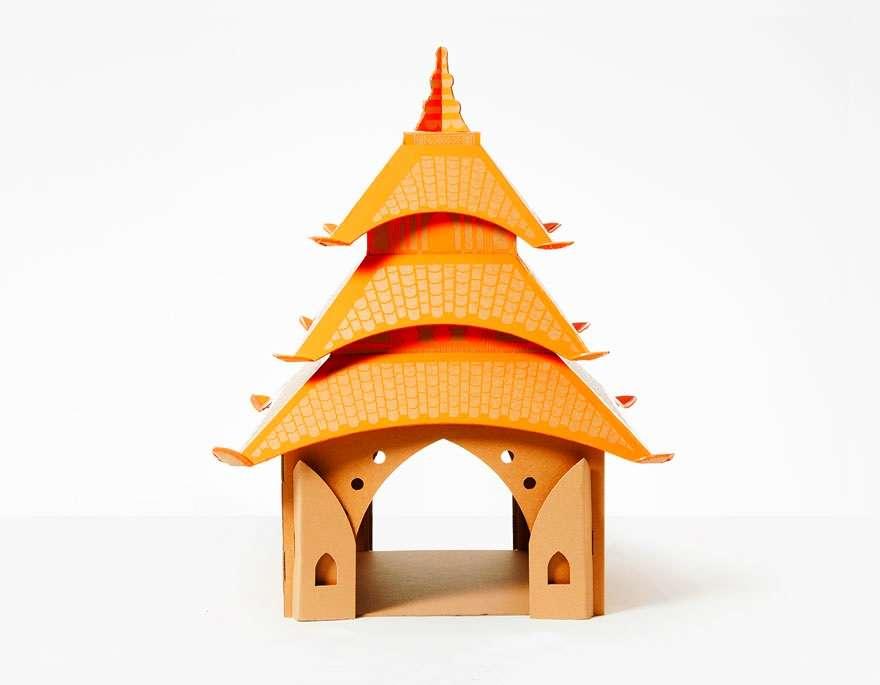cardboard-cat-houses-pagoda