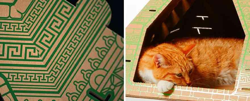 cardboard-cat-houses-piramide maya