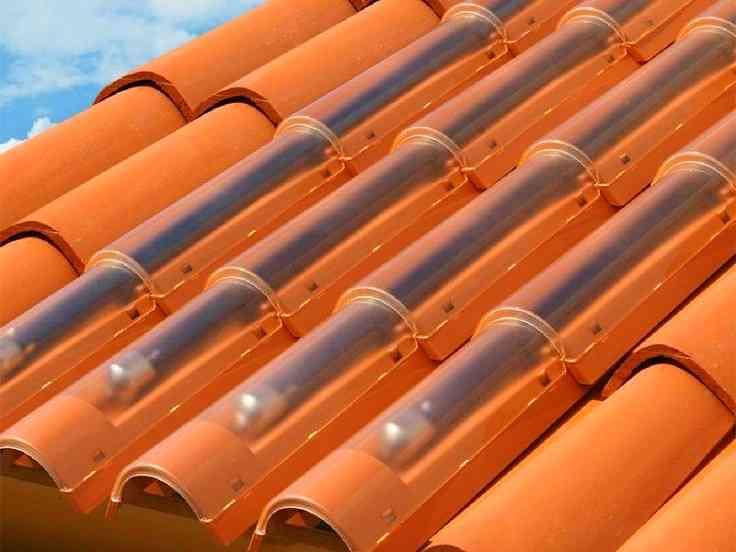 colector solar en tejas