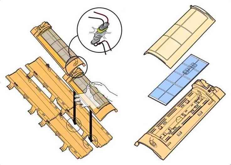 despiece teja solar